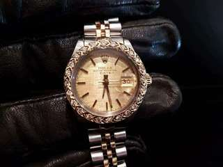 PREOWNED ROLEX Datejust, 6917 Yellow Rolesor, 18Ct Half Yellow Gold Steel, 26mm, Lady-size, 8011xxx Series @ Year 1983 Ladies Watch