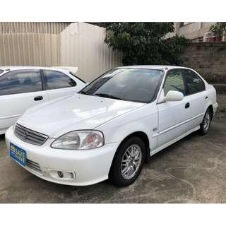 1998年12月出廠 99年小改款樣式 本田 CIVIC K8 潔淨白