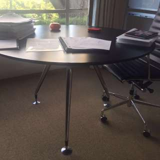 Round Black Office Or Dinning Table