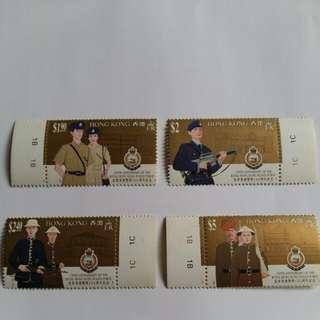 警察郵票4張