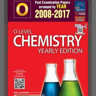*10 YEAR SERIES* [SINGAPORE ASIA PUBLISHERS] O-LEVEL CHEMISTRY YEARLY EDITION (2008-2017)
