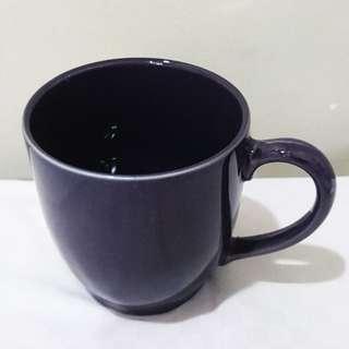 Plain Blueish Black Mug - Gelas Mug Hitam Kebiruan