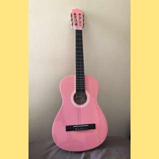 Pink Ashton Guitar