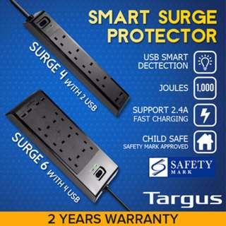 Targus smart surge protector 4 Way Power Extension SAFETY Socket