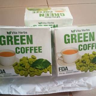 Herbal and slimming green coffee