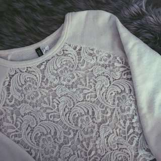 H&M Cropped White Sweater