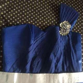 Royal Blue Elegant Venus cut Gown