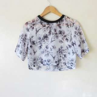 Divided H&M Crop Sheer Over