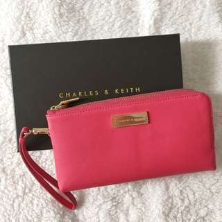 Charles & Keith Pink Berry Wallet