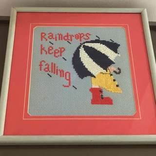 Framed Embroidery Home Decor art