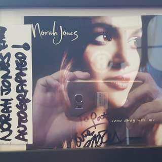 autographed nora jones album framed