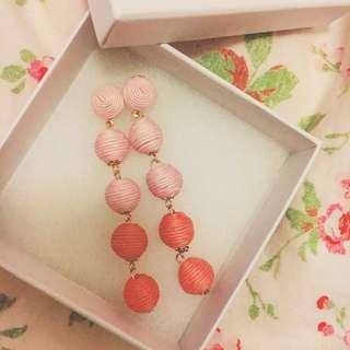 Coral earrings, 粉色耳環