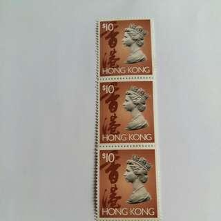 英女皇頭郵票3枚