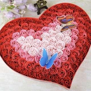 🌹心心形 玫瑰花禮盒