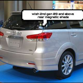 Toyota wish 2nd gen 09 and above rear magnetic shade