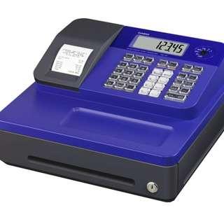 (免運)CASIO SE-G1熱感收據式收銀機(藍) 加5個紙卷 SEG1 記帳