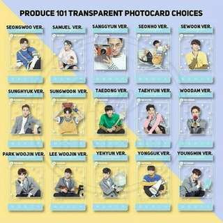 (PREORDER) Produce 101 transparent photocard