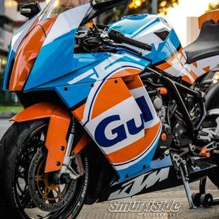 KTM RC8 Gulf Full Body Decal
