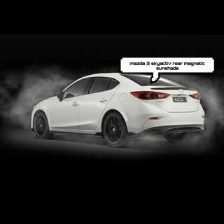 Mazda 3 skyactiv rear magnetic sunshade