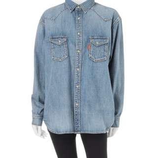 Ungrid 寬鬆經典藍牛仔襯衫