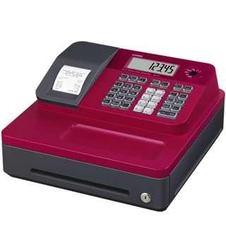 (免運只要5600) CASIO SE-G1熱感收據式收銀機(紅)+5個紙卷  SEG1 記帳