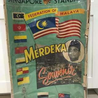 Singapore Standard Merdeka Newspaper 1957