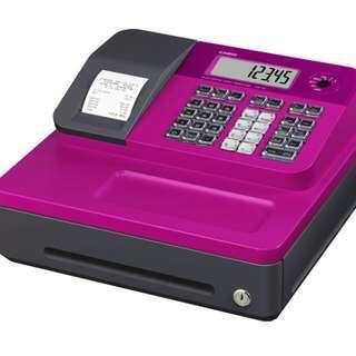 (免運) CASIO SE-G1熱感收據式收銀機(粉紅) 加5個紙卷 SEG1 記帳