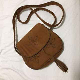 Brown wild cross bag
