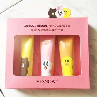 Cartoon friends hand cream set