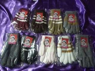 二月優惠包郵㊣成人冬季女裝珊瑚絨保暖手套圖片色$30/對;$55/2對