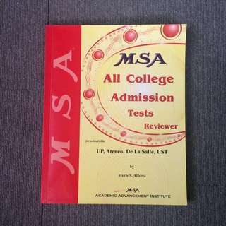 MSA All College Admissions Test Reviewer