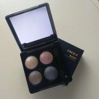 Face Shop Baked Eyeshadow Quad in Pink Grey
