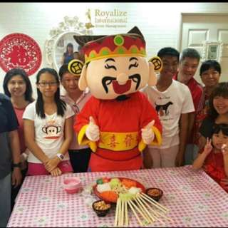 CNY mascot Authentic Cai shen ye