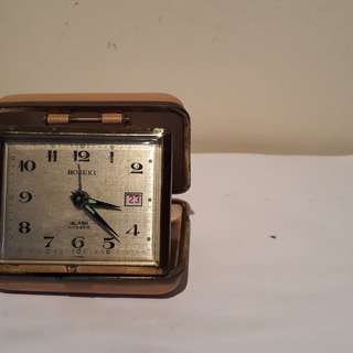 vintage HOSEKI alarm date pocket clock no dealer's pls