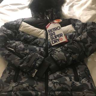 Brand new Superdry down jacket