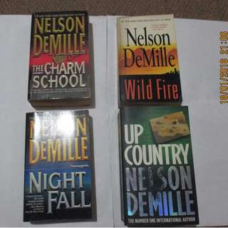 Nelson Demille, Paperbacks, Pre-loved Book/Books, Softbound