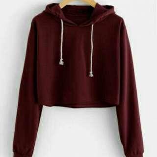 Sweater crop basic maroon