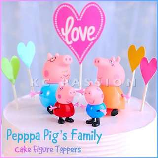 🐷 PEPPA PIG FAMILY CAKE FIGURE TOPPERS