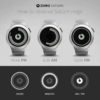 Ziiiro watch 電子鋼帶錶