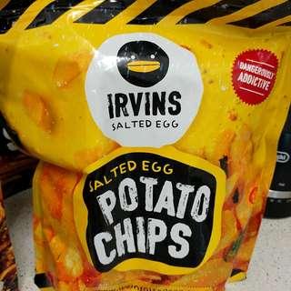Irvins Salted Egg 薯片 Potato Chips 大 Big