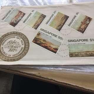 First day cover stamp 1971 art series Singapore