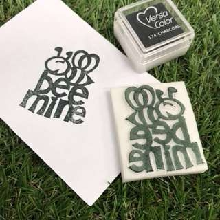 Bumble Bee mind Handmade Rubber stamp