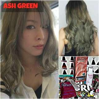 Ash Green Hair Dye / Colour (NON DAMAGE)