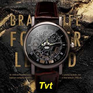 Hollow Engraved Skeleton Watch