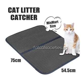 Honeycomb Dual Structure Cat Litter Mat  (Large : 75x58CM)