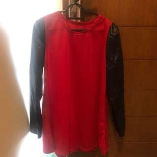 Red PU Dress
