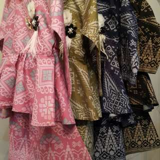 Peplum Songket kids