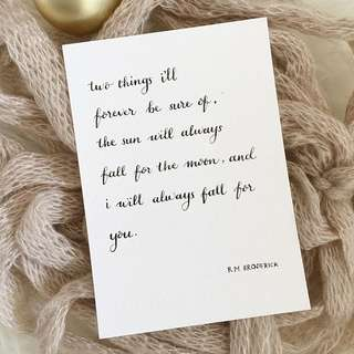 Calligraphy Cards #8