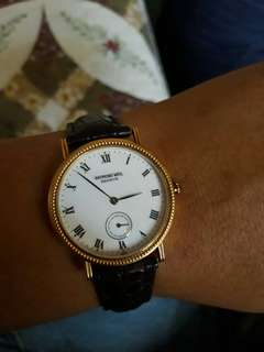 Authentic Raymond Weil RW Geneve Men - 18k Gold
