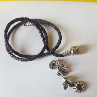 Pandora sz small +2 best friends charm